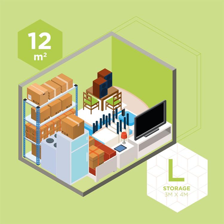 L Storage | 3M x 4M